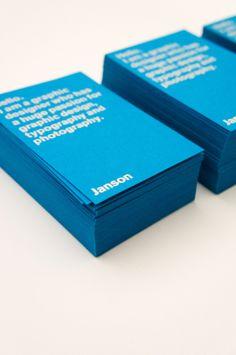 biz card / Janson Creative, tarjetas x millar desde $11 Ecuador http://disnetprom.wordpress.com/about/