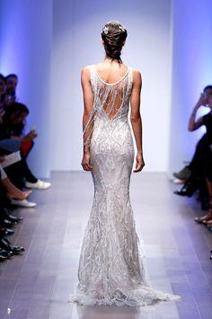 Lazaro wedding gown back details