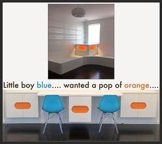 #boysroom #customfurnituredesign #interiordesign #blue #orange - posted by The Studio Interiors https://www.instagram.com/rachelseptimus - See more Luxury Real Estate photos from Local Realtors at https://LocalRealtors.com/stream