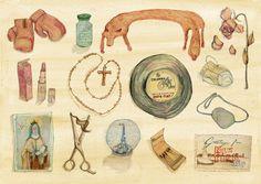 Edith PIaf 'Treasure' Limited Edition A3 Giclee Print by Bett Norris.. £30.00, via Etsy.