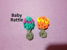 Rainbow Loom BABY RATTLE Charm. Designed and loomed by Emily Hill. Click photo for YouTube tutorial. 03/05/14.