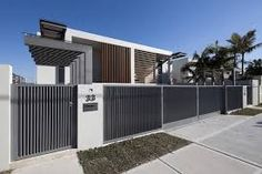 Image result for modern residential fence