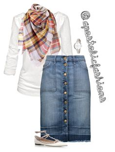 """""""Apostolic Fashions #1689"""" by apostolicfashions on Polyvore featuring Fat Face, Current/Elliott, Valentino and Kate Spade"""