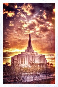 The Gilbert, Arizona Temple after rain showers in December of 2013. Like me at facebook.com/shanemorrisphotography!