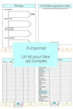 Kit de fiches organisation a imprimer pour les comptes
