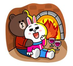 Brown & Cony's Cozy Winter Date - LINE Stickers