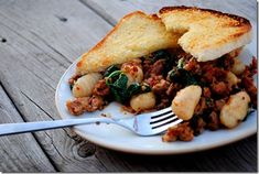 Whole-Wheat Gnocchi with Sausage & Spinach is full of filling, savory goodness. | iowagirleats.com