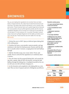 The recipe!  for delicious brownies