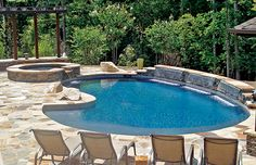 picture of a pool with volleyball net and water jets in Lisle ...