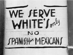 California history...The things they do not teach you in school...SMDH. ///  Unwilling to accept such overt discrimination, the Mendez family and other parents eventually filed Mendez v. Westminster in federal court in 1945.