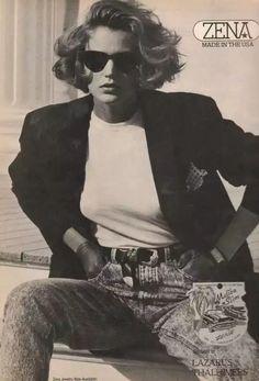 80s And 90s Fashion, Trendy Fashion, Fashion Models, Vintage Fashion, Fashion Outfits, 1987 Fashion, Fashion Fashion, Moda Vintage, White Tees