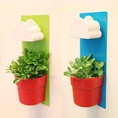 New Creative Designed Cloud Rainy Pot Wall-hung Plant Flower Pot Vase Yard Home Decoration Decor #Affiliate