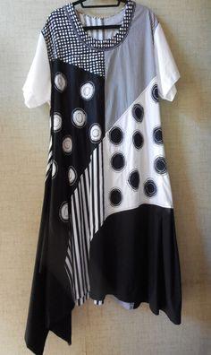 WAVE DRESS, Small size range, womens PDF sewing pattern – Boho Banjo art to wear