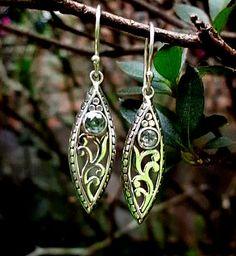 Beautiful drop earrings with Blue Topaz gems Silver 925