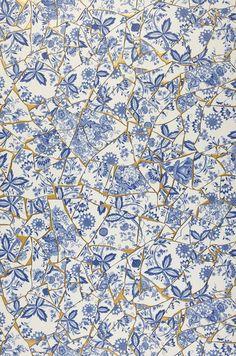 Broken China | Papier peint romantique | Motifs du papier peint | Papier peint des années 70