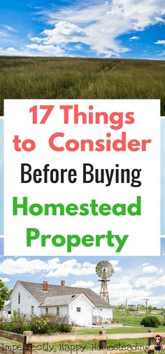 17 Things to Consider Before Buying Homestead Property or Rural Property for homesteading, farming, off-grid living or prepping.
