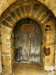 incredibly ancient door of French castle by cristina  .......rh
