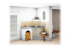 Tischherd Landhaus mit Bank Cabinet, Storage, Furniture, Home Decor, Kitchen Contemporary, Farmhouse, Tile, Clothes Stand, Purse Storage
