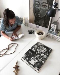 "Country Home & Art Posters on Instagram: ""Two old desks side by side with new paint makes a great little work nook. Joskus ehtii selailla kirjojakin kun on saatu kaikki tavarat…"""
