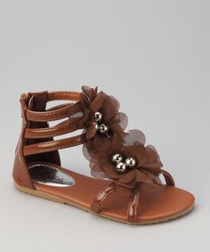 Look at this #zulilyfind! Brown Apple Gladiator Sandal by QQ Girl #zulilyfinds