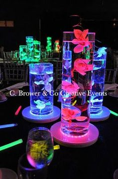 C. Brower & Co: BROWER POWER!: Bling it On! C. Brower & Co Shines at the ISES NJ North Garden State Gala! Neon Party, Spa Party, Sweet 16 Parties, Teen Parties, Quinceanera Party, Halloween Party Decor, Light Table, Event Design, Wedding Centerpieces