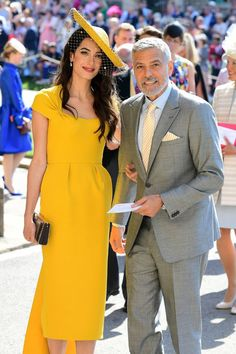 5d697d33a50 Amal Clooney Wore a Stunning Yellow Dress to the Royal Wedding