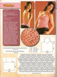 Materiales gráficos Gaby: Modelos top crop crochet paso a paso
