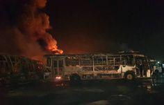Más de 50 Transbolívar fueron incendiados este lunes (+fotos)