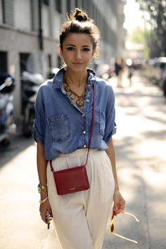 An easy afternoon #chambray look
