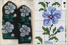 Double Knitting Patterns, Crochet Mittens Free Pattern, Knit Mittens, Knitting Charts, Sweater Knitting Patterns, Knitting Socks, Hand Knitting, Stitch Cartoon, Baby Boy Knitting