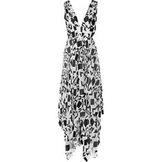 Alice + Olivia Esmay fil coupé maxi dress (1.075 BRL) ❤ liked on Polyvore featuring dresses, ivory, loose fit dress, loose maxi dress, loose dresses, loose fitting dresses and ivory maxi dress