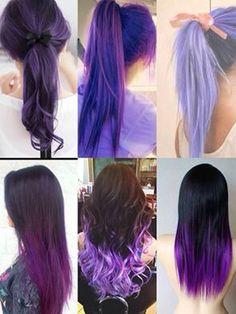 #purple #longhair  #cabello #largo #morado #decolorado #ombre #ombtehair