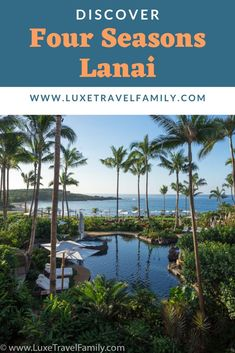 Discover the exclusive Four Seasons Lanai located a short passenger ferry ride from Maui, Hawaii. #luxurytravel #luxuryresort #FourSeasons #LoveLanai #Lanai Hawaii Hotels, Las Vegas Hotels, Hawaii Vacation, Hawaii Travel, Thailand Travel, Travel Usa, Maui Hawaii, Bangkok Thailand, Italy Travel