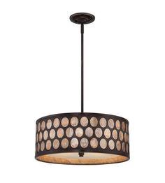 Quoizel Lighting Ariella 4 Light Pendant in Palladian Bronze ARL2818PN #quoizel