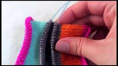 See this also for afterthought heels without gaps. How to pick up stitches for an afterthought heel without any gaps or holes that seem to plague many sock knitters. This method can be used for afterthought h...