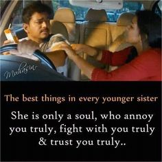 Tag-mention-share with your Brother and Sister 💙💚💛🧡💜👍 Bro And Sis Quotes, Big Brother Quotes, Brother And Sister Relationship, Brother Sister, Actor Quotes, Movie Quotes, Life Quotes, Mothers Day May, Vijay Actor