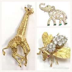 How can you not love the diamond encrusted gold critters?! Check them out on our Rubylane shop!  They are absolutely stunning. #vintagelove #critterbrooch #diamondsareagirlsbestfriend #diamonds #gold