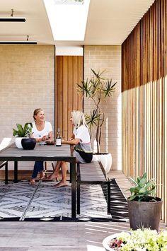 outdoor room - timber panels   photo derek swalwell