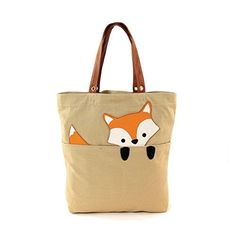 Another great find on Khaki Peeking Baby Fox Tote by Sleepyville Critters Diy Tote Bag, Reusable Tote Bags, Fox Crafts, Fox Bag, Patchwork Bags, Quilted Bag, Jute Bags, Fabric Bags, Cloth Bags