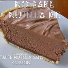 No Bake Nutella Pie
