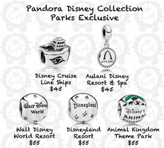 pandora charms disney world