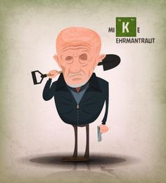Mike Ehrmantraut by Benoit Chartron in Poitiers, France