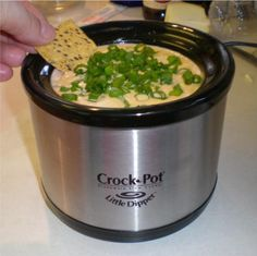 Mexican Dip   1 pound of hamburger  1 pound of italian sausage  1 brick of velvetta cheese  1 can of refried beans  1 large jar of taco sauce  brown the meat, cooked through.  Add the meat, cheese, beans and taco sauce to the crock pot.  Let everything melt together and then serve with chips.