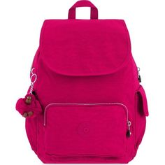 fef79db66 KIPLING City backpack ($105) ❤ liked on Polyvore featuring bags, backpacks,  flam pink, monkey backpack, day pack backpack, zip bags, flap backpack and  pink ...