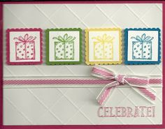 "Stampin' Up!, Best of Birthdays, 1"" Punch, Postage Stamp Punch, Celebrate, Birthday"
