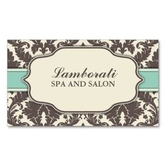 Floral Pattern Damask Elegant Classy Modern Retro Double-Sided Standard Business Cards (Pack Of 100)