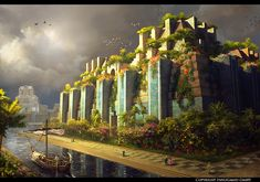Lumion digitally reconstructed the Hanging Gardens of Babylon - one of Herodotus' Seven Wonders of the Ancient World. Wtf Fun Facts, Funny Facts, Random Facts, Strange Facts, Seven Wonders, History Facts, Mind Blown, Wonders Of The World, Concept Art