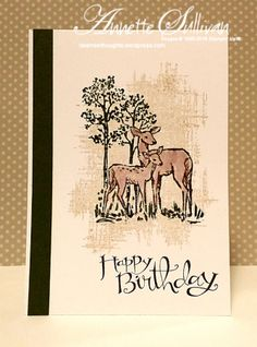 Lavender Thoughts | Annette Sullivan | Stampin' Up! In The Meadow Mossy Deer