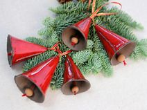 Red ceramic bells