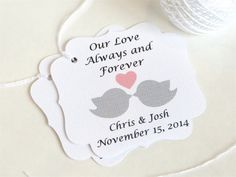Love Birds Personalized wedding favor tags by WildSugarberries